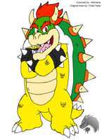 Bowser Koopa -Coloured by Animeria