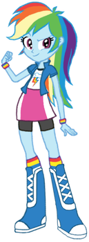 Eq. Girls Rainbow Dash (First look) by ReyJJJ