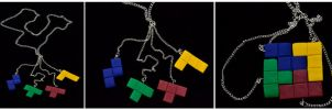 4 Piece Tetris Necklace by MayEbony