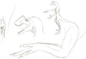 Anthro dilophosaurus study by Son-of-Italy