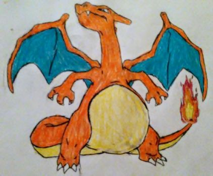Pregnant Charizard by someguy458