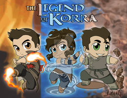 Legend of Korra chibies by DeanGrayson
