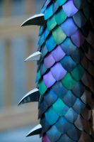 Anodized Titanium Dragon Tail Close-up by DracoLoricatus