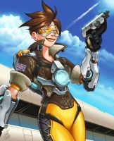 Tracer - Fanart by paulo-peres