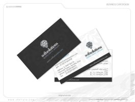 business card, face and back by she7ata