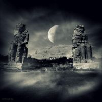 Colossi of Memnon by lostknightkg