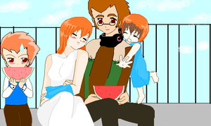 A happy family by chook-four