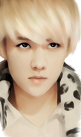 Sehun phone drawing by SMoran
