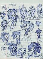 Styles of Sonic by GR3Gthehedgehog