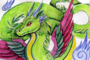 Amphithere Dragon Watercolor by The-GoblinQueen