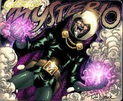 Golden Age Mysterio colors by bennyfuentes