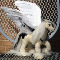 Needle Felted Pegasus by The-GoblinQueen