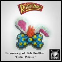 Roger Rabbit Bow-tie in memory of Bob Hoskins by VoxelPerlers