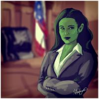 She-Hulk -  courtroom by nottonyharrison