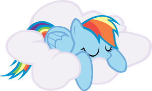 Sleeping Rainbow Dash by Versilaryan