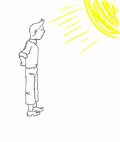 Tintin in the sun - sketch by Mii-riam