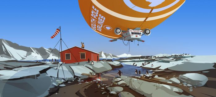 south pole airlines by cyberkolbasa