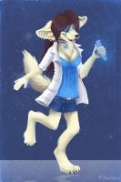 Crazy fennec physicist by Sharley102
