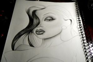 Jessica Rabbit- WIP by GeeFreak