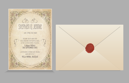 Wedding Invitation Design by mangion