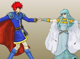 Eliwood and Ninian by EricMHE
