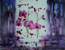 Orchid (watercolor) by AlexandraDart