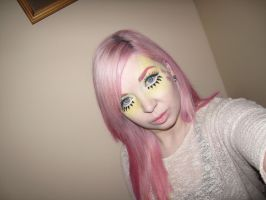 My Little Pony Fluttershy Inspired Cosplay Makeup1 by nikkipandahat