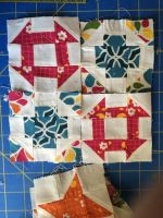 Quilt WIP: Churn Dash and Greek Cross by beccastareyes
