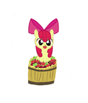 Apple Bloom In a Bucket of Apples by Skitty27