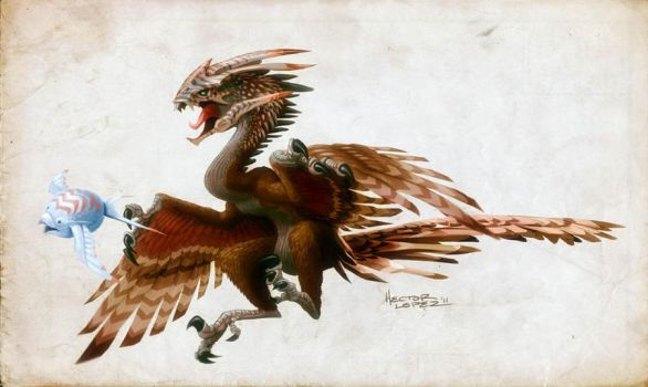 archeopteryx 2.0 by heckthor