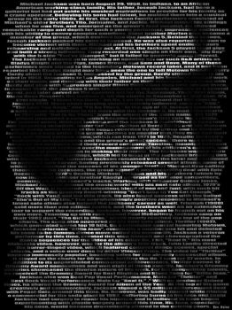 Michael Jackson, Text Portrait by BenHeine