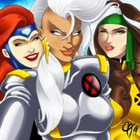 X-Men Selfie by Cahnartist