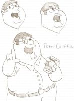 Peter Griffin sketches by CartoonFreak101