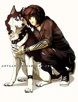 A guy and his dog by Autlaw