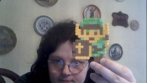 Commish: LoZ Link Perler by SuzuriHeinze