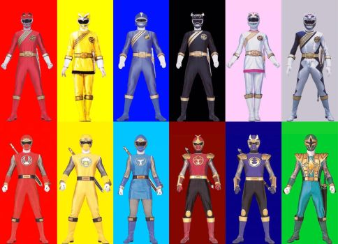 Wild Force - Ninja Storm Team up by PinkRangerFan
