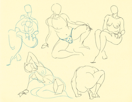 Hampton p. 37-45: Overlaps + Curves Studies 2 by theThirdCartel