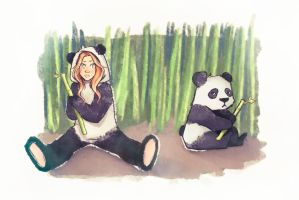 Panda's camouflage by Misspingu