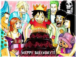 Happy Birthday, Luffy by LadyDeadPooly