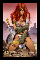 Red Sonja Wounded by AlexSpacepirate