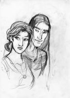 Wyn and Christopher by tinycoward
