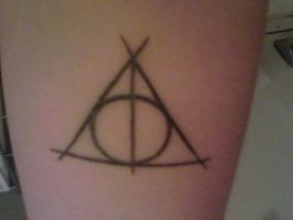 Deathly Hallows Symbol Tattoo by RavensGrrl