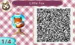 ACNL QR Code - Bitty Fox 1/4 by foreverbluejeans