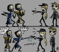Mortal Kombat, movie sketch 2 by Ayej