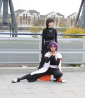Captain Yoruichi and Soifon by TyraelsWings
