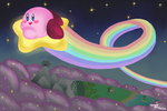 Kirby's Night Ride by ShadedPenumbra