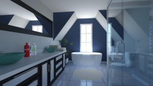 Blue like Bathroom by GabrielAuger