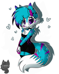 Skylar The Wolf .:Commission:. by Amanddica