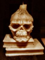 skull candle by stockyard