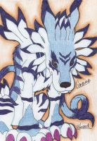 Garurumon - artrade with DMIMV by Boltonartist